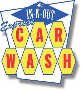 in n out express car wash logo